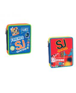 Astuccio maxi 2 zip boy Seven SJ Gang